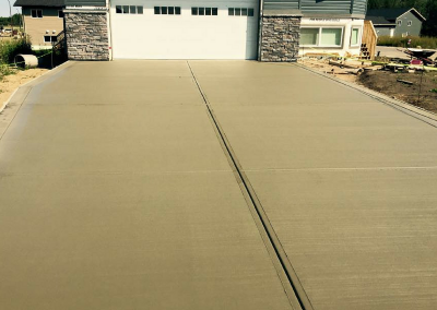 Concrete Driveway Poured In Cold Lake