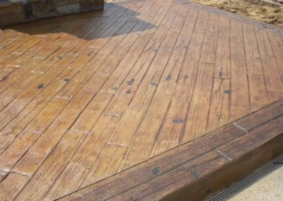 Wood Plank Stamped Concrete Cold Lake