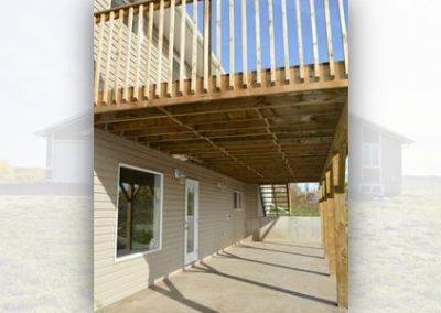 Back Deck Cold Lake Home Build