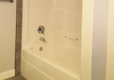 Shower Cold Lake Home Build